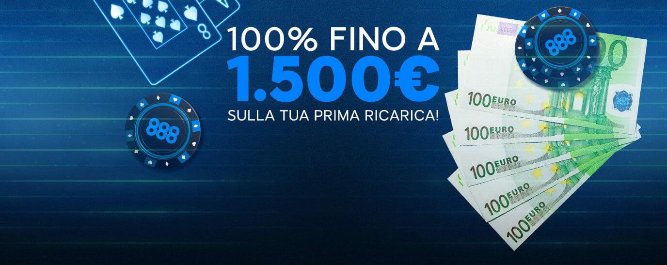 Bonus di Benvenuto 888 Poker