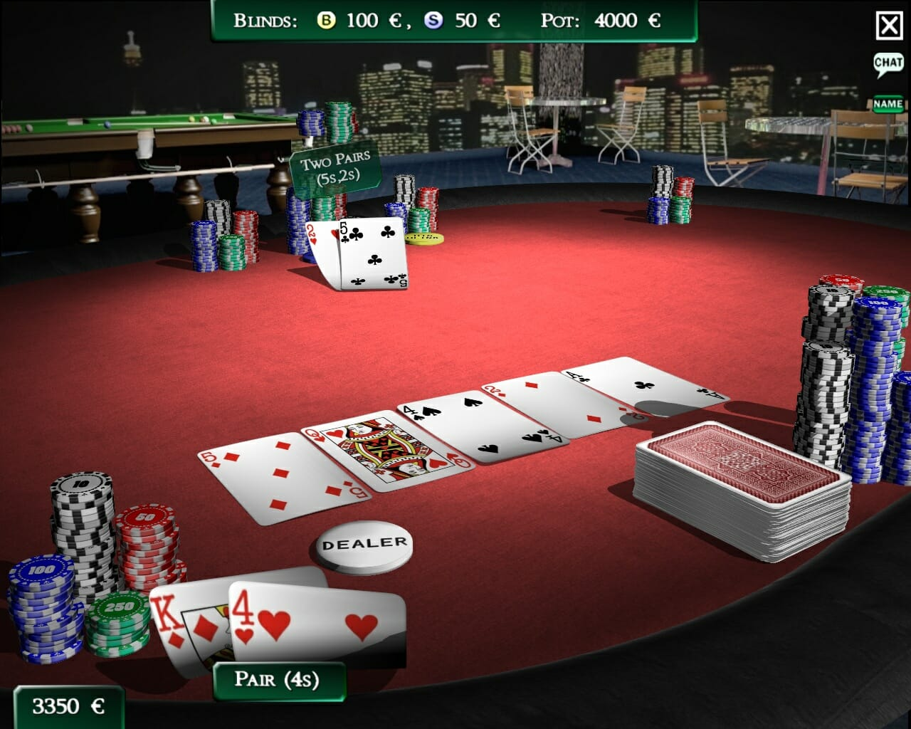 Simulatore di poker texas hold'em
